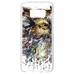 Angry And Colourful Owl T Shirt Samsung Galaxy S8 White Seamless Case by AmeeaDesign