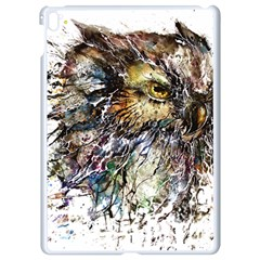 Angry And Colourful Owl T Shirt Apple Ipad Pro 9 7   White Seamless Case by AmeeaDesign