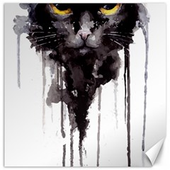 Angry Cat T Shirt Canvas 12  X 12   by AmeeaDesign
