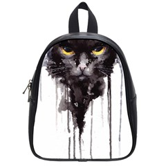 Angry Cat T Shirt School Bag (small) by AmeeaDesign