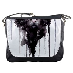 Angry Cat T Shirt Messenger Bags by AmeeaDesign