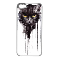 Angry Cat T Shirt Apple Iphone 5 Case (silver) by AmeeaDesign