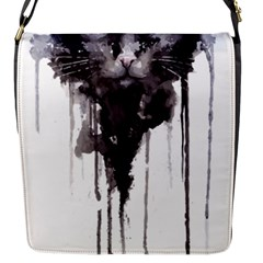 Angry Cat T Shirt Flap Messenger Bag (s) by AmeeaDesign