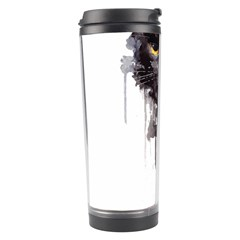 Angry Cat T Shirt Travel Tumbler by AmeeaDesign