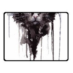 Angry Cat T Shirt Double Sided Fleece Blanket (small)  by AmeeaDesign