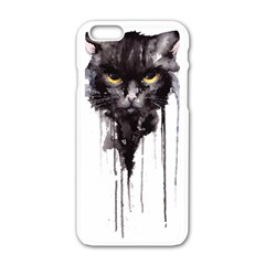 Angry Cat T Shirt Apple Iphone 6/6s White Enamel Case by AmeeaDesign
