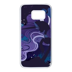 Nightmare Rarity Stream Wall  Samsung Galaxy S7 White Seamless Case by amphoto