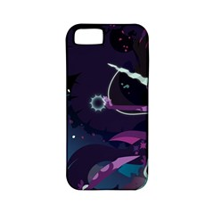 Midnight Sparkle Stream Wall  Apple Iphone 5 Classic Hardshell Case (pc+silicone) by amphoto