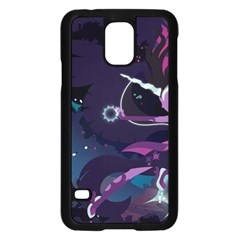 Midnight Sparkle Stream Wall  Samsung Galaxy S5 Case (black) by amphoto