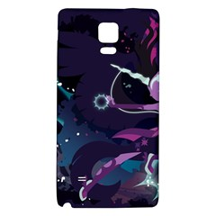 Midnight Sparkle Stream Wall  Galaxy Note 4 Back Case by amphoto