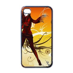 Girl Autumn Grass  Apple Iphone 4 Case (black) by amphoto