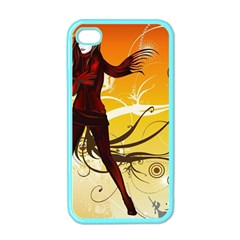 Girl Autumn Grass  Apple Iphone 4 Case (color)