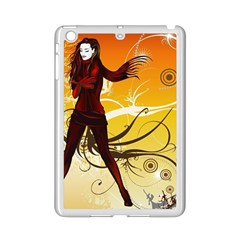 Girl Autumn Grass  Ipad Mini 2 Enamel Coated Cases by amphoto