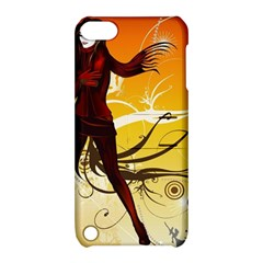 Girl Autumn Grass  Apple Ipod Touch 5 Hardshell Case With Stand by amphoto