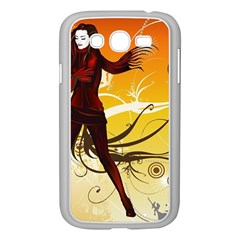 Girl Autumn Grass  Samsung Galaxy Grand Duos I9082 Case (white) by amphoto