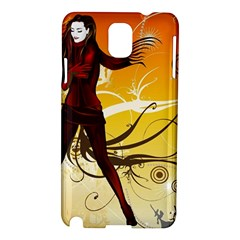 Girl Autumn Grass  Samsung Galaxy Note 3 N9005 Hardshell Case by amphoto