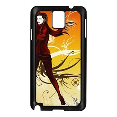 Girl Autumn Grass  Samsung Galaxy Note 3 N9005 Case (black) by amphoto