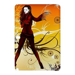 Girl Autumn Grass  Samsung Galaxy Tab Pro 10 1 Hardshell Case by amphoto