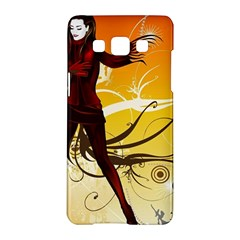 Girl Autumn Grass  Samsung Galaxy A5 Hardshell Case  by amphoto