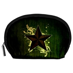 Star Dark Pattern  Accessory Pouches (large)  by amphoto