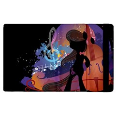 Black Octavia Stream Wall  Apple Ipad 3/4 Flip Case by amphoto