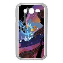 Black Octavia Stream Wall  Samsung Galaxy Grand Duos I9082 Case (white) by amphoto