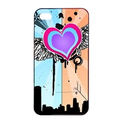 Couple Hugging Heart Apple Iphone 4/4s Seamless Case (black)