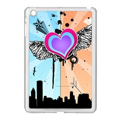 Couple Hugging Heart Apple Ipad Mini Case (white) by amphoto