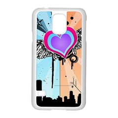 Couple Hugging Heart Samsung Galaxy S5 Case (white) by amphoto