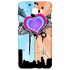 Couple Hugging Heart Samsung C9 Pro Hardshell Case  by amphoto