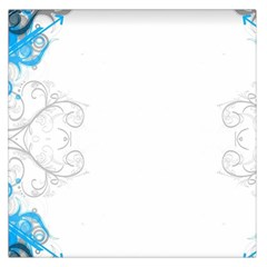 Patterns Blue White  Large Satin Scarf (square) by amphoto