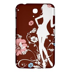 Girl Flowers Silhouette  Samsung Galaxy Tab 3 (7 ) P3200 Hardshell Case  by amphoto