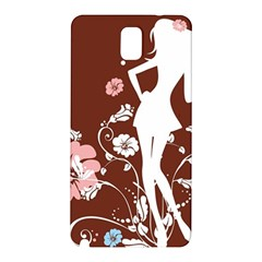 Girl Flowers Silhouette  Samsung Galaxy Note 3 N9005 Hardshell Back Case by amphoto