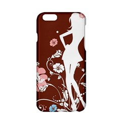 Girl Flowers Silhouette  Apple Iphone 6/6s Hardshell Case by amphoto