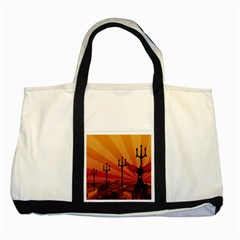 Wings Drawing Poles  Two Tone Tote Bag by amphoto