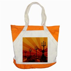 Wings Drawing Poles  Accent Tote Bag by amphoto