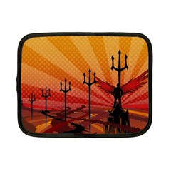 Wings Drawing Poles  Netbook Case (small)  by amphoto