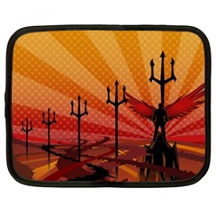 Wings Drawing Poles  Netbook Case (xxl)  by amphoto