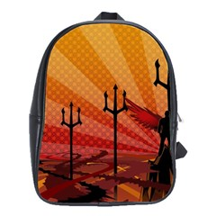 Wings Drawing Poles  School Bag (large) by amphoto