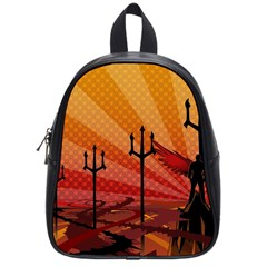 Wings Drawing Poles  School Bag (small) by amphoto