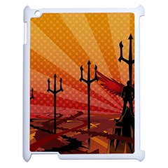 Wings Drawing Poles  Apple Ipad 2 Case (white) by amphoto