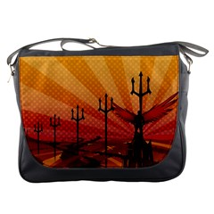 Wings Drawing Poles  Messenger Bags by amphoto