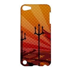 Wings Drawing Poles  Apple Ipod Touch 5 Hardshell Case by amphoto