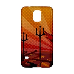 Wings Drawing Poles  Samsung Galaxy S5 Hardshell Case  by amphoto