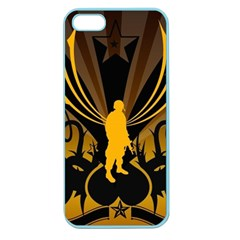 Soldiers Army Line  Apple Seamless Iphone 5 Case (color) by amphoto
