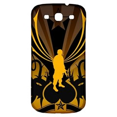 Soldiers Army Line  Samsung Galaxy S3 S Iii Classic Hardshell Back Case by amphoto