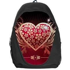 Heart Patterns Lines  Backpack Bag by amphoto