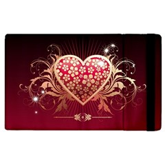 Heart Patterns Lines  Apple Ipad 3/4 Flip Case by amphoto