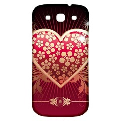 Heart Patterns Lines  Samsung Galaxy S3 S Iii Classic Hardshell Back Case by amphoto