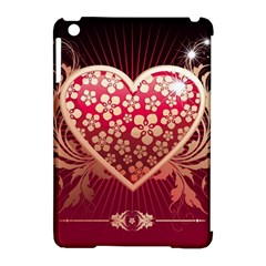 Heart Patterns Lines  Apple Ipad Mini Hardshell Case (compatible With Smart Cover) by amphoto